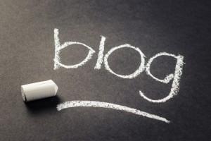 Blog word, handwritten with chalk, entrepreneurs